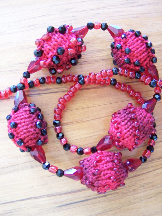 Knitted Beaded Necklace